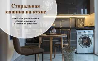 Стиральная машина на кухне дизайн