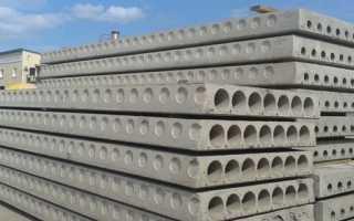 Конструкция железобетонных плит перекрытия