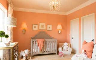 Персиковый цвет с чем сочетается в интерьере
