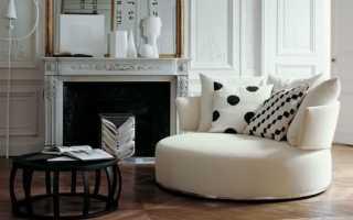 Круглый диван в интерьере