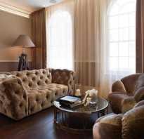 Интерьер комнаты в коричневом цвете