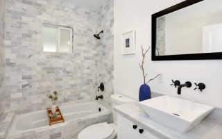 Длинная ванная комната дизайн