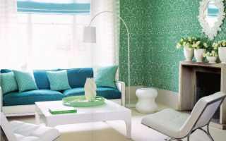 Интерьер комнаты в зеленом цвете