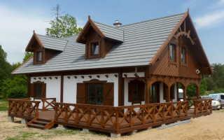 Красивые дома из дерева фото