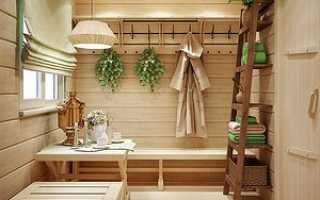 Дизайн предбанника в бане