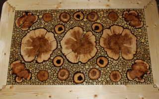 Мебель из спилов дерева своими руками