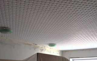 Потолки из плитки фото