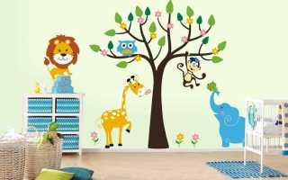 Трафарет для детской комнаты