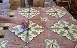 Укладка цементной плитки