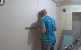 Чем приклеить гипсокартон к бетонной стене