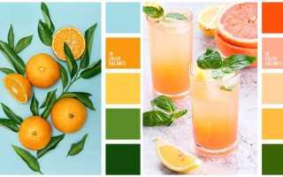 Сочетания оранжевого цвета в интерьере