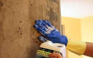 Окраска бетонных стен
