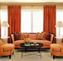 Сочетание оранжевого цвета в интерьере