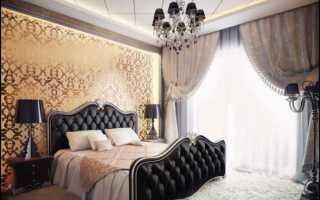 Интерьеры спален с темной мебелью