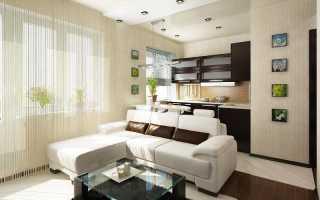 Дизайн большой однокомнатной квартиры