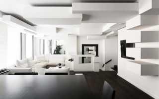 Дизайн квартиры в черно белом