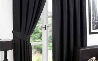 Дизайн черные шторы