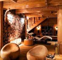 Простой интерьер деревянного дома