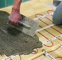 Как монтировать теплый пол под плитку
