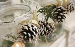 Декор с шишками на новый год