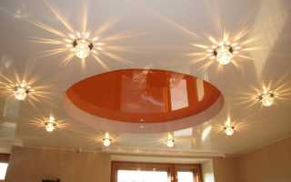 Натяжные потолки дизайн освещения