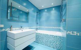 Синяя ванная комната дизайн фото