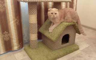 Домик для кошки из дерева своими руками