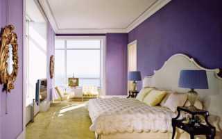 Дизайн фиолетовой стены