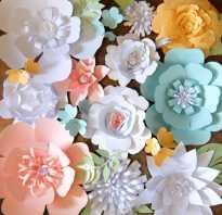 Декор стен объемными цветами