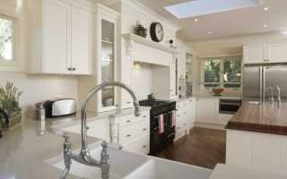 Интерьеры кухни в современном стиле белые