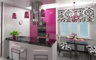Кухня студия 18 кв м дизайн фото