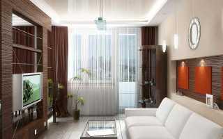 Дизайн штор для гостиной с балконной дверью