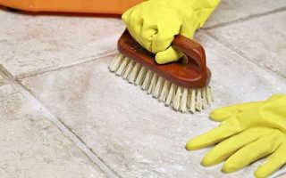 Чем отмыть кафельную плитку на полу