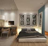 Дизайн спальни 2 видами обоев