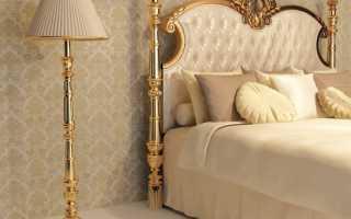 Золотая спальня дизайн