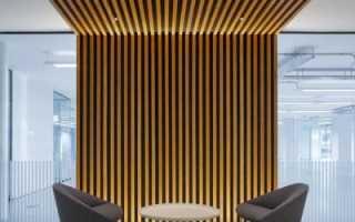 Декор стен рейками