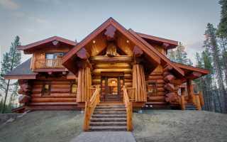 Дизайн домов из сруба