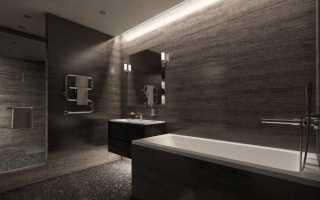 Дизайн темной ванной комнаты фото