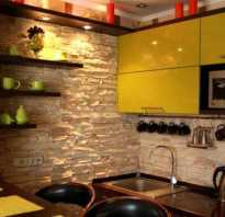 Дизайн кухни с камнем