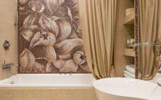 Плитка с мозаикой в ванной дизайн