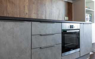 Кухня бетон и дерево