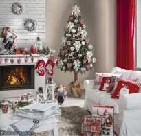 Рождественский интерьер дома
