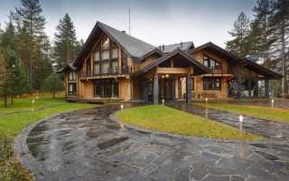 Дизайн в домах из бруса