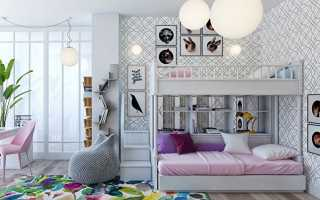 Детская комната для 2 девочек дизайн