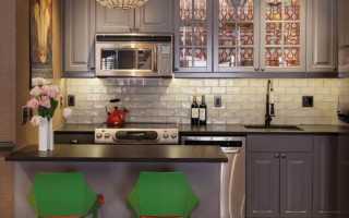 Дизайн кухни с плиткой