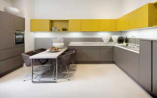 Угловая кухня дизайн с холодильником фото
