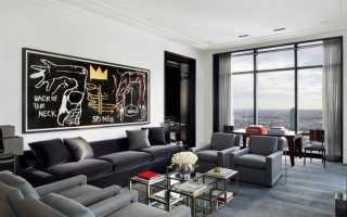 Дизайн с серой мебелью