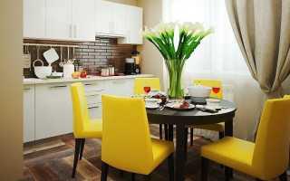 Дизайн кухни с яркими акцентами