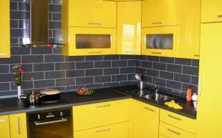 Интерьер желтой кухни фото