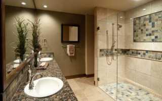 Дизайн ванной комнаты душ без поддона